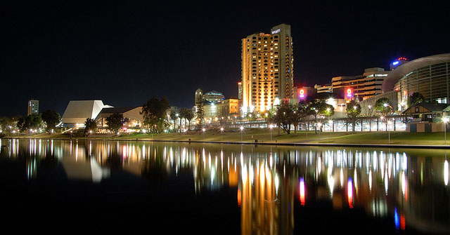 View of Adelaide at night